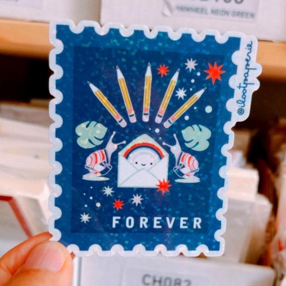 NEW** Glitter! Forever Snail Mail Bonanza Stamp Sticker Set of 3