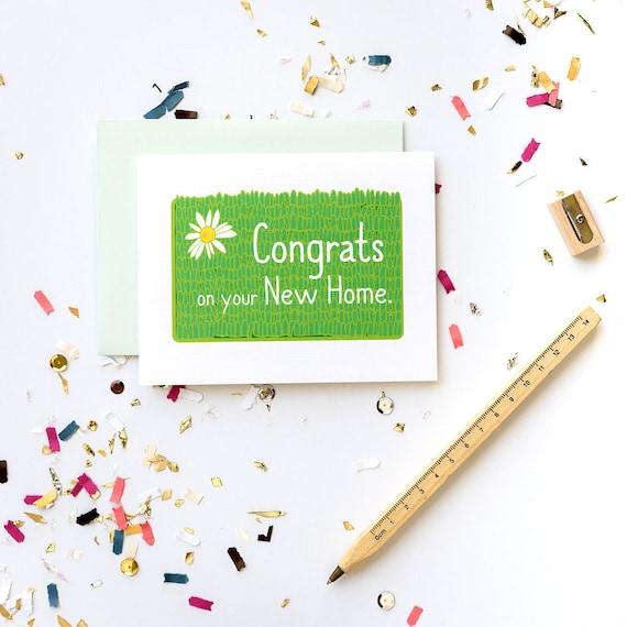 New Home Welcome Mat Congrats Housewarming Greeting Card