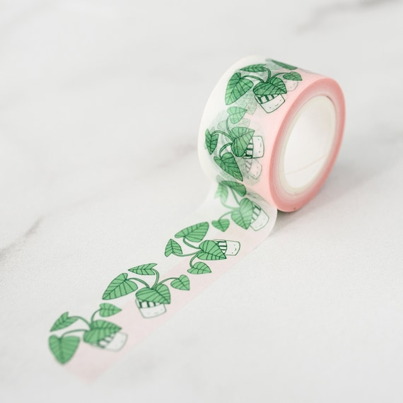 NEW** Happy Plant! Washi Tape, Pattern Paper Tape, Gift Wrap, Stocking Stuffer, Kawaii Tape, Journal, Planner, Holiday, Gifts