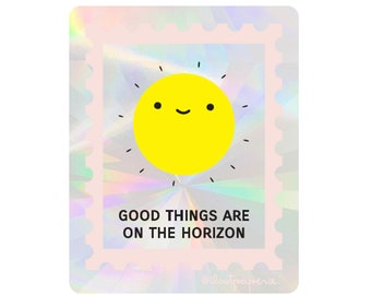 RESTOCKED** Good Things On the Horizon Suncatcher Sticker Rainbow Maker Window Decal