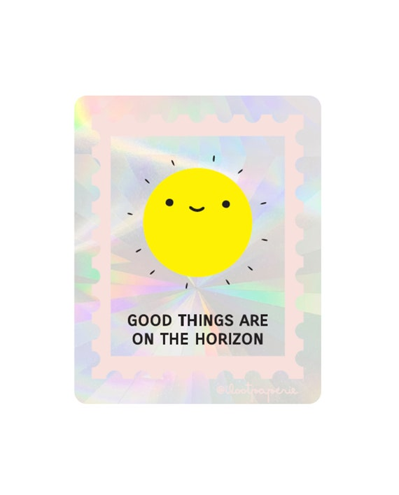 NEW** Good Things On the Horizon Suncatcher Sticker Rainbow Maker Window Decal