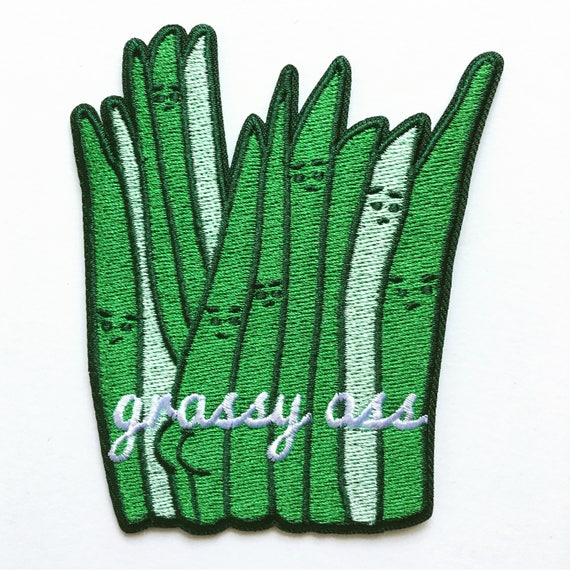 NEW ** Grassy Ass 100% Embroidered Iron On Patch