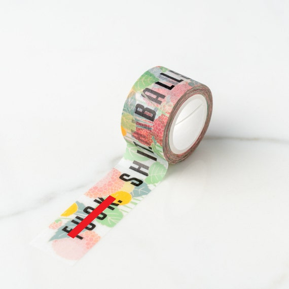 F%*}+. S#@*. Balls. Floral Cuss Words Washi Tape