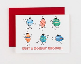 Bust a Holiday Groove Christmas Cards - Set of 5