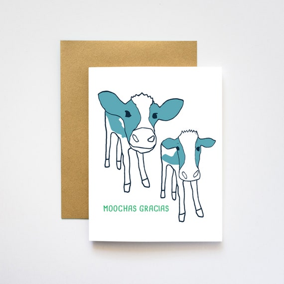 Moochas Gracias Thank You A2 Greeting Card
