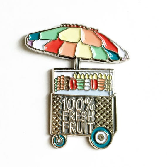 NEW ** 100% Fresh Fruit Los Angeles Fruit Cart Enamel / Lapel Pin