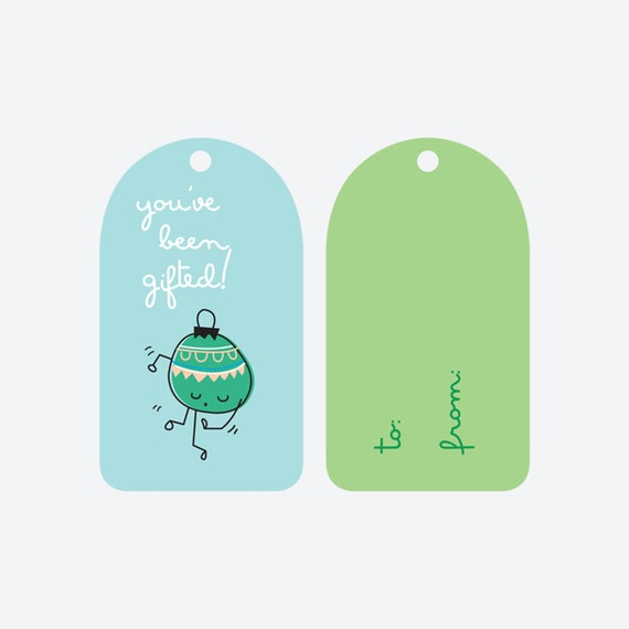 You've Been Gifted Ornament Boogie Gift Tags - Set of 8