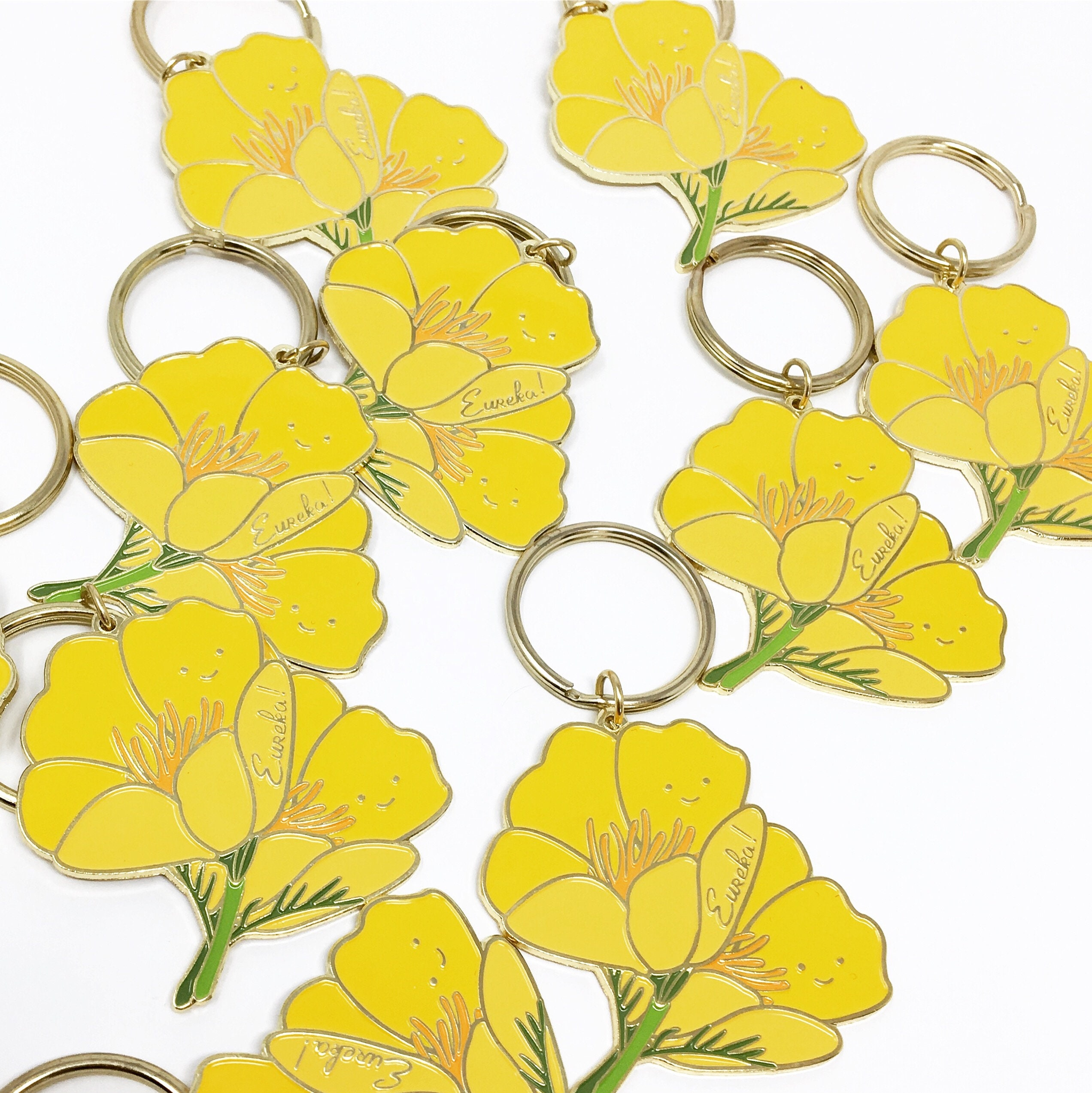 NEW! California Golden Poppy Super Bloom Soft Enamel