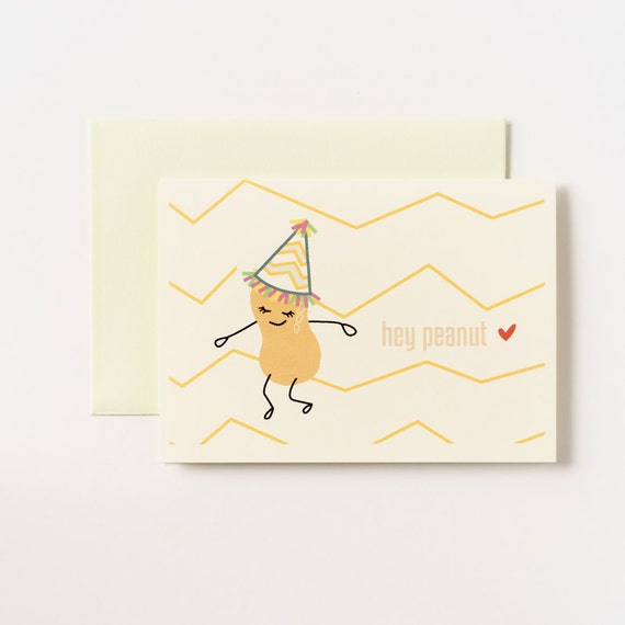 Peanut Go Nuts Birthday Greeting Card