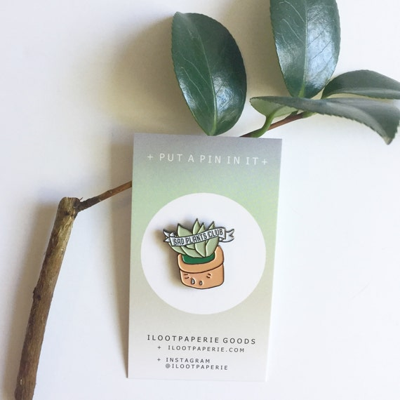 Sad Plants Club Enamel / Lapel Pin