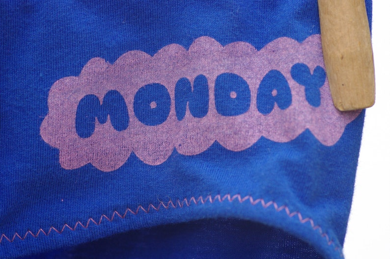 88c42066b7a6 Blue Monday Days of the Week Women's Underwear Boy Cut & | Etsy