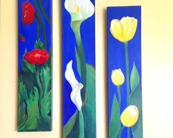 Triptych of My favorite Flowers