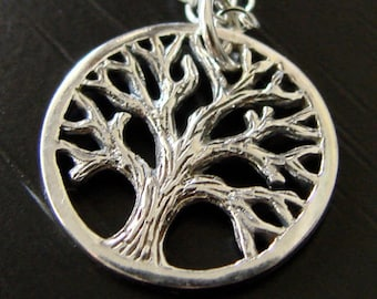 Tree of Life Necklace on Sterling Silver, Tree Necklace Mother's Day Gifts,
