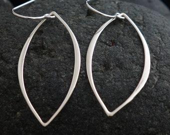Bridesmaid Gift Earrings Marquise Dangle Earrings in Sterling Silver, Drop Earrings, bridesmaid gift, wedding jewelry