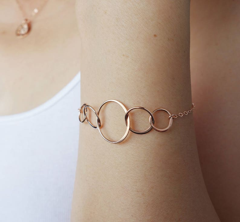Rose Gold Bracelet 4 Best Friend Gift 50th Birthday Gifts For
