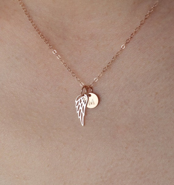 Angel wing charms Angel wing necklaces Mother Daughter angel wing charms. Angel wing necklace set