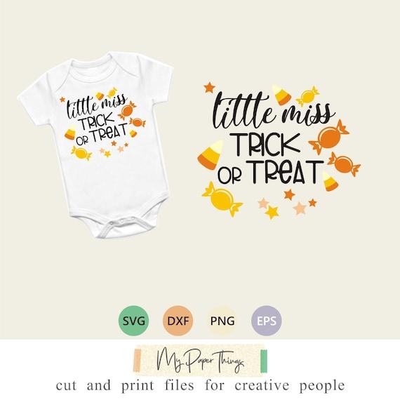 Halloween Baby Svg Designs Little Miss Trick Or Treat Svg Etsy