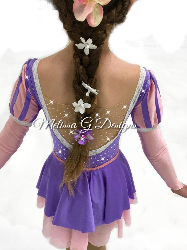 701a67a99c6d8d Rapunzel Figure Skate Dress Roller Skate Dress Rapunzel | Etsy