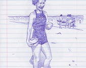 Woman on a Beach Original...