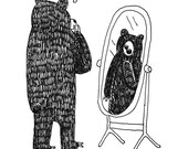 Self-Aware Bear Print...