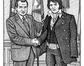 Elvis & Nixon Print...