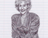Betty White Print