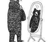 Self-Aware Bear Print...
