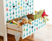 Small Triangle Modern Furniture Stencil - Cute Nursery Decor & Painting Dresser Drawers and Table Tops