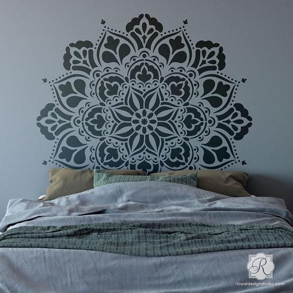 Large Mandala Wall Art Stencil Design For Decorating Boho
