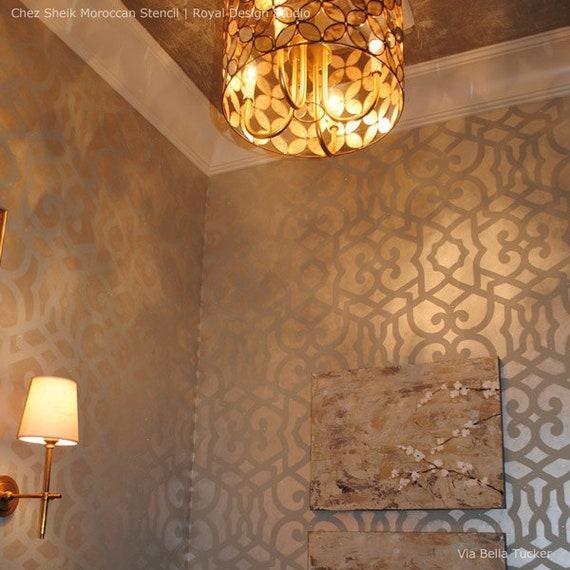 Große Spalier Muster Wand Schablone Designer Tapetenmalerei | Etsy