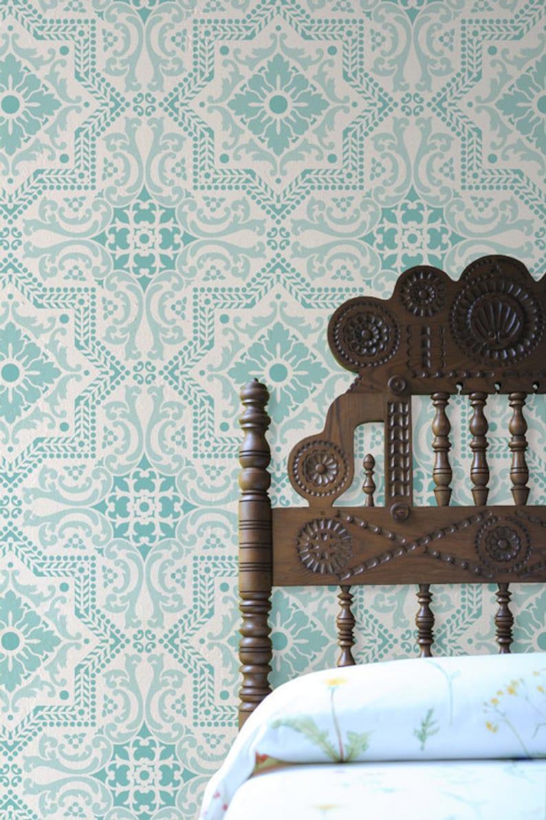 Große Fliesen Muster Schablone für dekorative Malerei und | Etsy