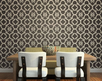 Large Stencil Pattern for Painting and Decorating DIY Accent Wall or Custom Floor Design