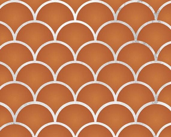 Kleine Jakobsmuscheln Wand Design Schablone Für Die Malerei | Etsy