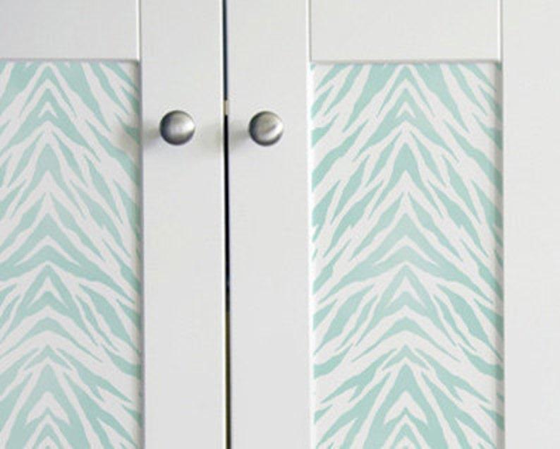 Furniture & Wall Stencil Pattern Zebra Stripes Border or Allover Stencil  for DIY Wall Decor