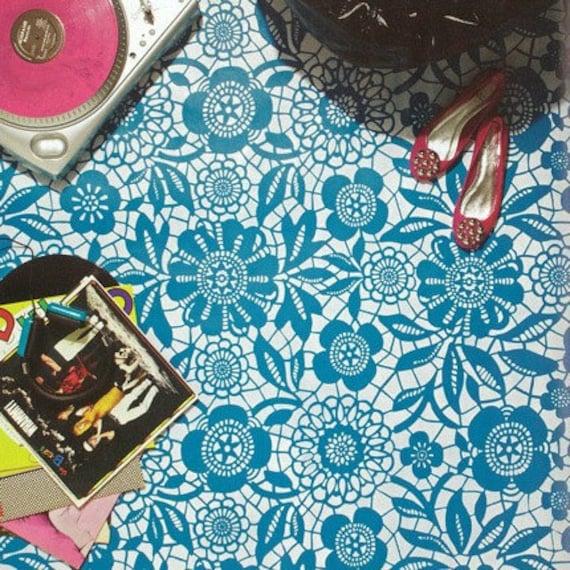 Floraler Spitze Muster Schablone Wand Oder Boden Malerei | Etsy