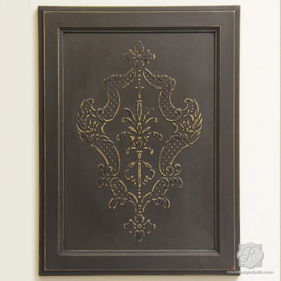 Italian Old World Damask Furniture Stencil For Decorating   Etsy