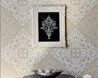Large Tile Wall Stencil for Painting and Stenciling Wall Tiles or Floor Tiles - Custom Floor Design - Faux Tile Decor