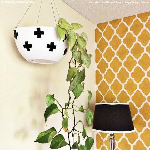 Spalier Muster Wand Schablone Oder Boden Schablone Für Malerei | Etsy