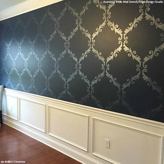 Large Trellis Pattern Wall Stencil Decorate A DIY Mural