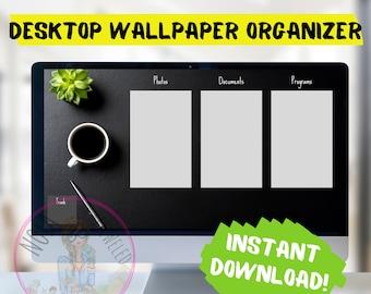 Leather Desk Desktop Organizer Wallpaper Desktop Blogger Organizer Computer Background Desktop Planner Desktop Wallpaper Organizer ADHD