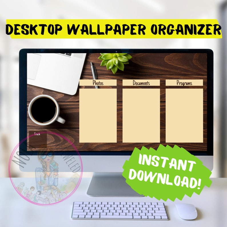 Wood Desk Desktop Organizer Wallpaper Desktop Blogger image 0