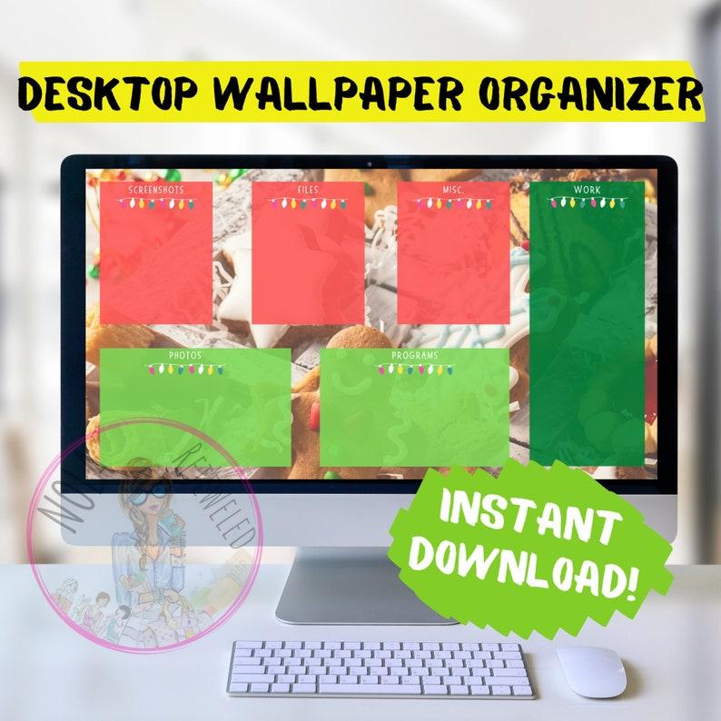Christmas Ginger Desktop Organizer Wallpaper Desktop Blogger image 0