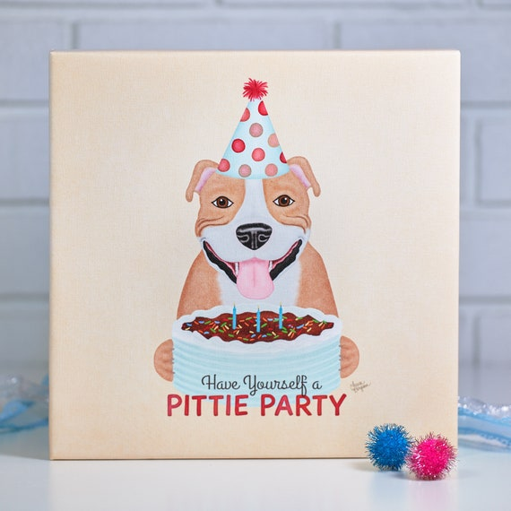 Pit Bull Canvas Art Print - Gallery Wrapped - Pittie - Birthday Party Kitchen Ideas For Canvas Wrap on kitchen ideas for design, kitchen ideas for accessories, kitchen ideas for painting, kitchen ideas for windows, kitchen ideas for walls, kitchen ideas wood, kitchen ideas for red, kitchen ideas for wallpaper,