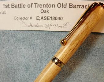 American Revolution - 1st Battle of Trenton – Old Barracks – Oak
