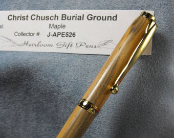 Christ Church Burial Ground pen –I made from a tree growing at the final resting place of 5 signers of the Declaration of Independence