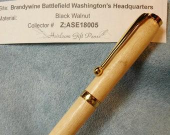 "Battle of Brandywine – Washington's HQ – ""Albino"" Black Walnut"
