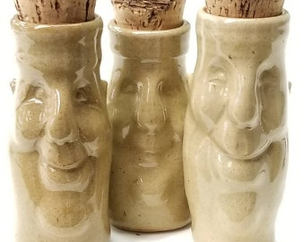 SET of 3, Fun CONTAINERS, order 2 sets & get FREE Shipping, Handmade, Sculpted, Artist's choice, ceramics, pottery