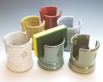 NEW Sponge Cup, Cup Holder, Ceramic (Fast SHIPPING) Mail Organizer, Napkin Holder, pottery, ceramic