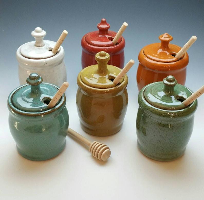 Handmade Honey Jars