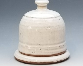 Butter Dish, FREE SHIPPING, White Ceramic Handmade, Salt Cellar, In stock, ceramic, pottery, butter container